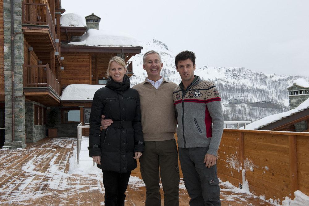 I titolari dell'Hotel Principe delle Nevi