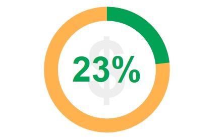 Percentuale di acquisti effettuati in più di un girono dai francesi