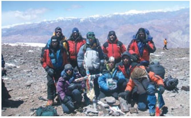 Il gruppo Cai della Valfurva che ha scalato l'Aconcagua