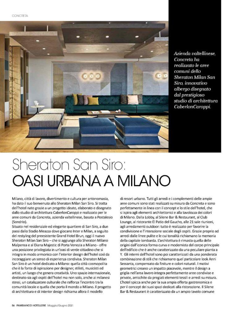 Interior design dello Sheraton Milano