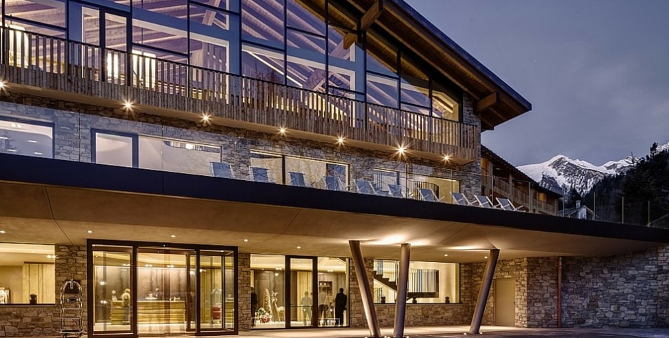 Il monte Bianco e il Grand Hotel Courmayeur MontBlanc